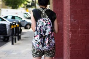 Susie Bubble backpack and shorts