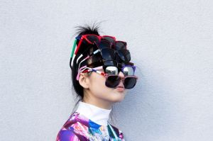 Susie Bubble multiple sunglasses