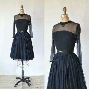 Delena Vintage black party dress