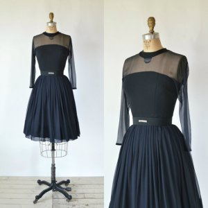 Delena Vintage black party dress
