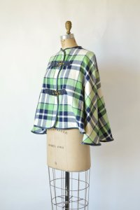 Delena Vintage plaid cape