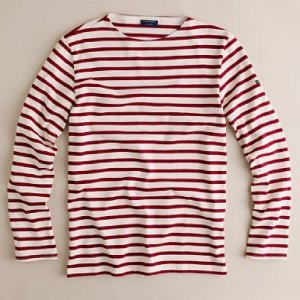 J Crew Marsala St. James Nautical Tee