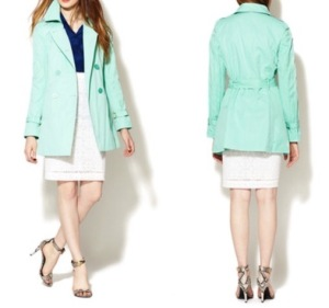 candy coated T Tahari trench