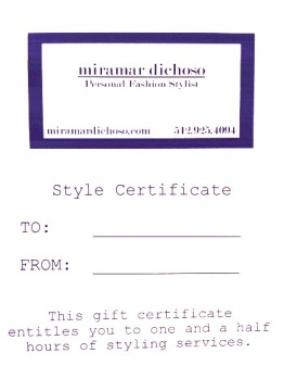 my gift certificate