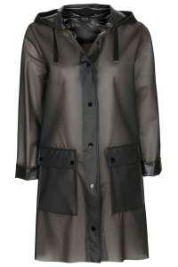 Topshop longline frosted plastic rain coat
